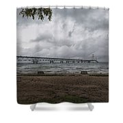 Straits Of Mackinac Shower Curtain