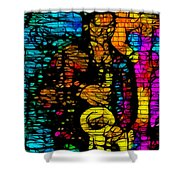 Street Jazz Shower Curtain