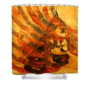 Strength - Tile Shower Curtain