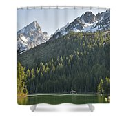 String Lake Reflection Shower Curtain