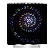 Colorful String Of Diamonds Shower Curtain