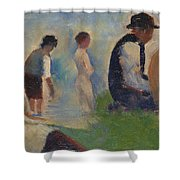 Study For Bathers At Asnieres Shower Curtain