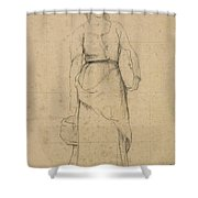 Study Of A Peasant Woman Shower Curtain