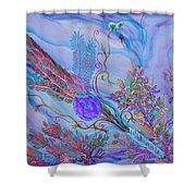 Sukkot-the Lulav Shower Curtain