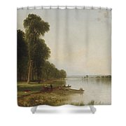 Summer Day On Conesus Lake Shower Curtain
