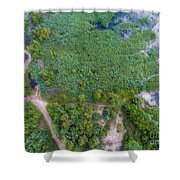 Summer Time Lake And Green Forest, In Poland Lanscape.  Shower Curtain