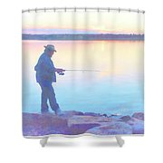 Sunrise Fisherman Shower Curtain