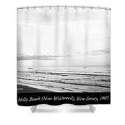 Sunrise, Holly Beach, Now Wildwood, New Jersey, 1907 Shower Curtain