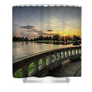 Sunrise In The Park Shower Curtain