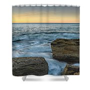 Sunrise On The Rocky Coast Shower Curtain