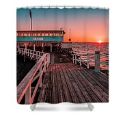 Sunset At Langedrag, Gothenburg Shower Curtain