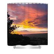 Sunset At Yaki Point Shower Curtain