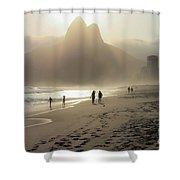 Sunset In Rio De Janeiro Shower Curtain