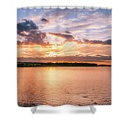 Sunset Over The Bay.......... Shower Curtain
