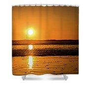 Sunset Over The Ocean Shower Curtain