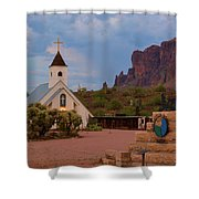 Superstition Mountain State Park Shower Curtain