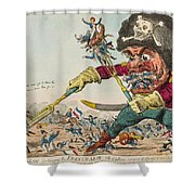Swallow Destroying The French Army, Shower Curtain