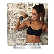 Sweat With Kayla Shower Curtain