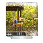 Tahiti Bora Bora Shower Curtain