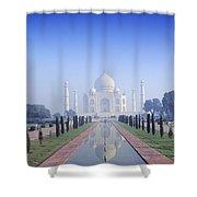 Taj Mahal View Shower Curtain