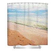 Tangalooma Island Beach In Moreton Bay.  Shower Curtain