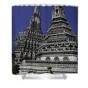 Temple Detail In Bangkok Thialand Shower Curtain