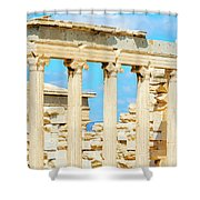 Temple Of Athena Nike In Greece Shower Curtain