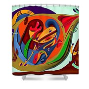 Tempus Fugit Shower Curtain