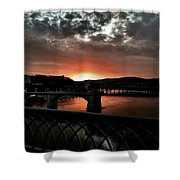Tennessee River Sunset Shower Curtain