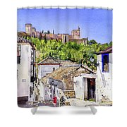 The Alhambra From The Albaicin Shower Curtain