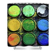 The Artist Shower Curtain by Tracy Hall