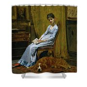 The Artist's Wife And His Setter Dog Shower Curtain