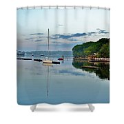 The Bass River At Dawn, Beverly Ma Shower Curtain