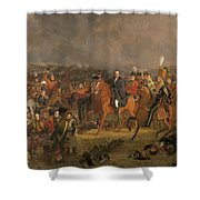 The Battle Of Waterloo Shower Curtain