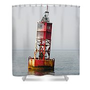 The Bell Buoy Shower Curtain