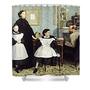 The Bellelli Family Shower Curtain by MotionAge Designs