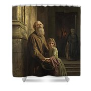 The Blind Beggar Shower Curtain