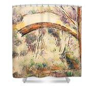 The Bridge Of Trois - Sautets Shower Curtain