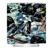 The Brook, Nova Scotia Shower Curtain