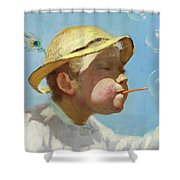 The Bubble Boy Shower Curtain