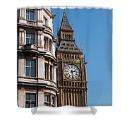 The Clock Tower In London Shower Curtain