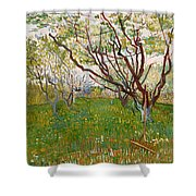 The Flowering Orchard Shower Curtain