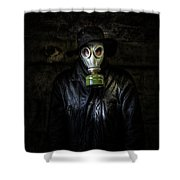The Gas Mask Man Shower Curtain
