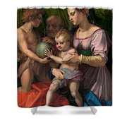 The Holy Family With The Young Saint John The Baptist Shower Curtain
