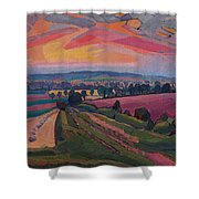 The Icknield Way Shower Curtain