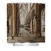 The Interior Of The Onze Lieve Vrouwekerk In Antwerp Shower Curtain