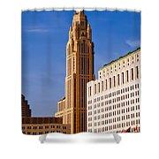 The Leveque Tower Of Columbus Ohio Shower Curtain