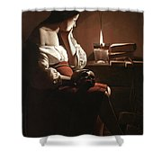 The Magdalen With The Smoking Flame Shower Curtain