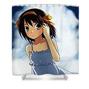 The Melancholy Of Haruhi Suzumiya Shower Curtain