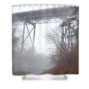 The New River Gorge Bridge Shower Curtain